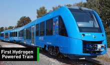 This Hydrogen Fuel Cell Train's Only Exhaust Is Clean Water